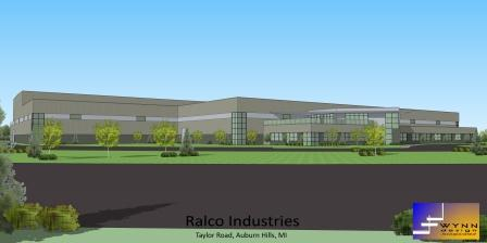 A rendering of Ralco's new headquarters building.
