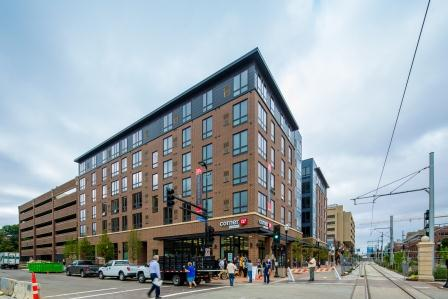 The Station on Washington is an example of the type of multi-family living favored by Millennials. (Photo courtesy Opus Development Company)
