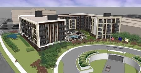 A rendering of the Arcata multi-family development near Minneapolis.