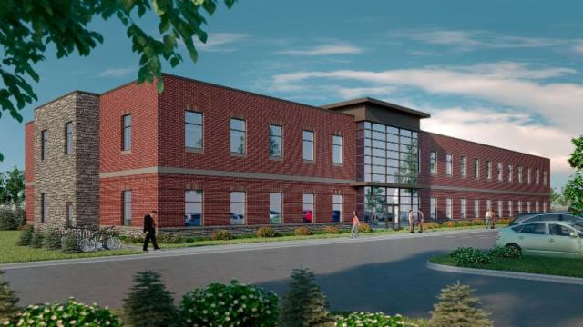 This new office building will be the latest addition to the Oakwood Hills master-planned development.