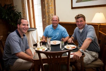 Bruce McConnell, Lyle Levin and Mike Mangan at Studley's annual Landlord Golf Challenge.