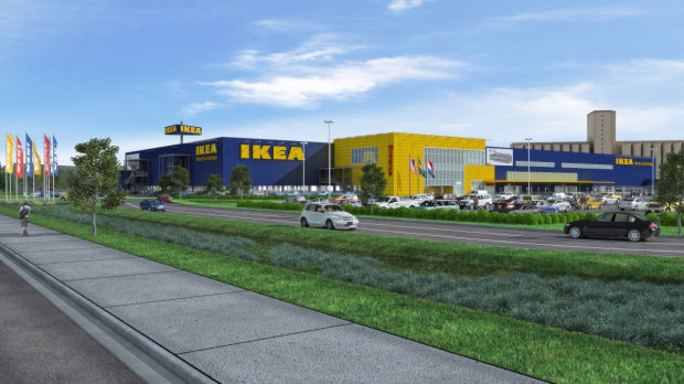 A rendering of Ikea's planned store in St. Louis.