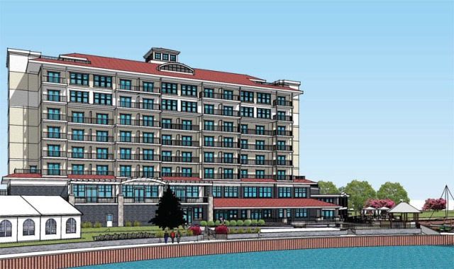 Rendering of the Inn at Harbor Shores