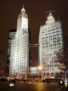 The Wrigley Building in downtown Chicago benefited from an HOK lighting upgrade.