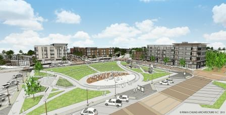 A rendering of Drexel Town Square in Oak Creek.