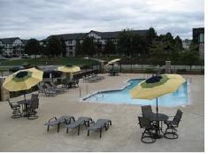 The pool area at Aspen Chase.