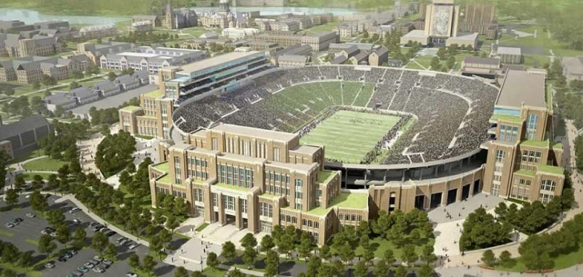 A rendering of the Campus Crossroads project at Notre Dame.