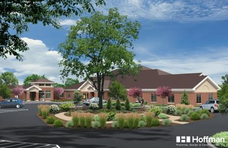 A rendering of the renovated Woodside Senior Communities in Green Bay, Wis.