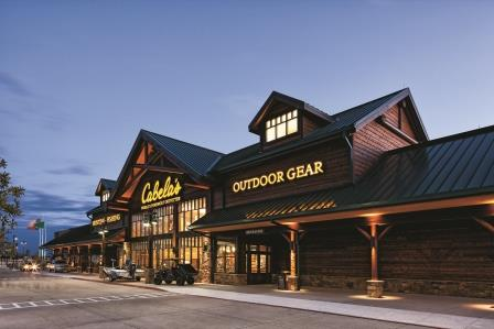 The exterior of the new Cabela's opening this May in Woodbury, Minn.