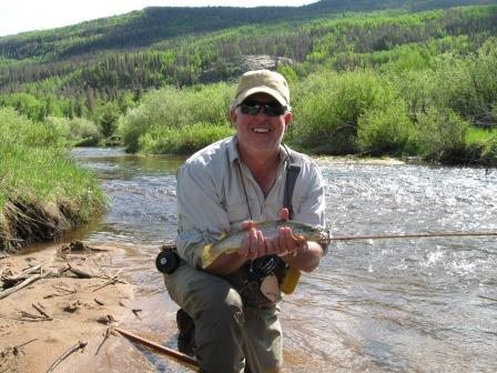 When he needs a break from the office? Cassidy Turley's Michael Mayer prefers the solitude of fly fishing
