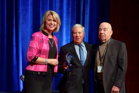 Jean Stothert, mayor of the city of Omaha, and Tom Fellman and Howard Kooper from Broadmoor attended this year's CRE Summit.