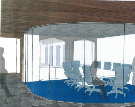 Future meeting space in the former Tower Club.