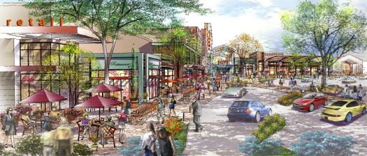 Another view of the proposed new look for the Charlestowne Mall.