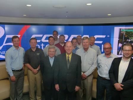 Some of the attendees at the CORFAC International fall conference in Chicago included Kevin Riley, Mason Capitani and Kurt Walsh in front, Scott Savacool in back, Steven Tick, Gary Grochowski, John Homsher, Jason Capitani, Jim Klements, Joe Kramer, Jack Allen, Steve Zacher and Tim Ryan.