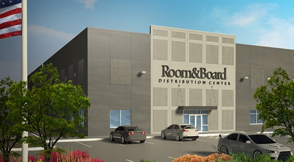 Duke Realty is now building a build-to-suit warehouse for Room & Board at the Gateway North Business Park.