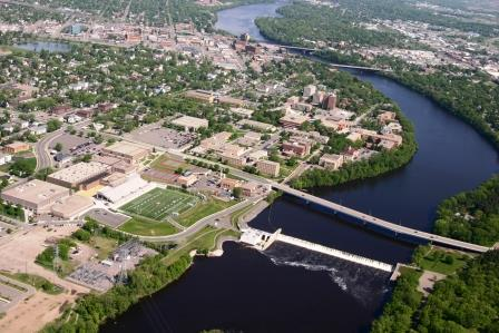 An aerial view of St. Cloud State University, which helps provide an educated labor force for the city's employers.
