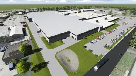 A rendering of the new composite center in St. Louis.