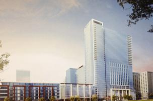 A rendering of Omni's planned downtown Louisville project.