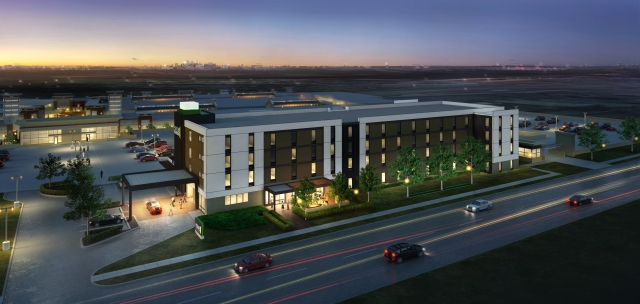 A rendering of the new Hilton Home2 Suites planned for Eagan, Minn.