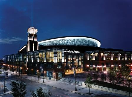 Nationwide Arena in Columbus, Ohio, incorporates the new open concept of sports stadiums.