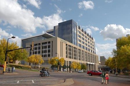 A rendering of the new Maurices headquarters planned for downtown Duluth.