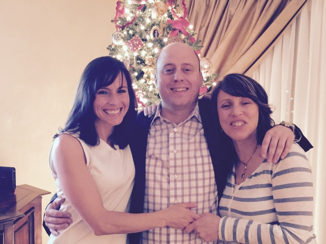 Brown enjoys the holiday season with his sisters, Cari Troy and Linda Neill.