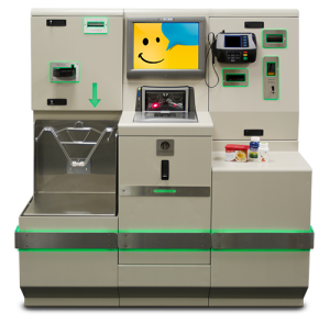 A self-checkout machine from ECRS