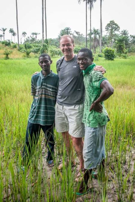 John Breitinger, vice president of investment and development at United Properties, in Sierra Leone in 2013.