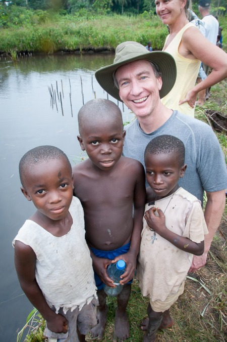 Brian Carey, from United Properties, and his wife Jaclyn in Sierra Leone in 2013