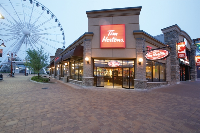 Tim Hortons -- here is the Niagara Falls location -- is coming to St. Louis this summer.