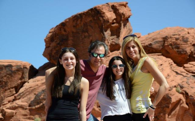 Monte Mann with his wife Laurie and daughters Alex and Eliza during a spring break trip last March to the Valley of Fire State Park in Nevada. Mann and his family drove from Las Vegas to Fire State Park, Zion National Park, the Grand Canyon and then back to Vegas.