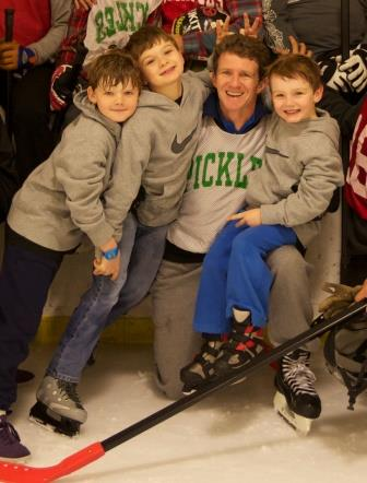 Willy Walker with his three sons.