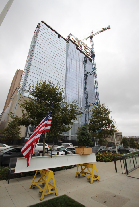 hilton topping out