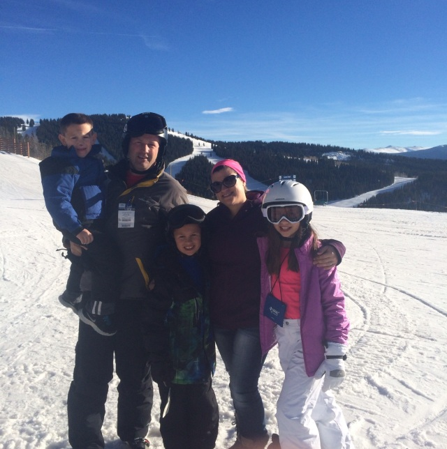 Skiing has just become a favorite pastime of the Ungles family.
