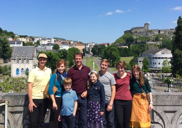 This May, Patrick Gaughan and his family traveled to Lourdes, France, where they volunteered to the city's neediest residents.