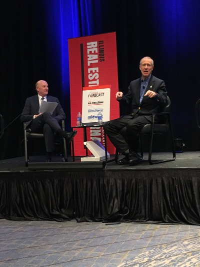 Colliers International's David Kahnweiler and Illinois Gov. Bruce Rauner discuss the many issues facing Illinois.