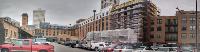 Doran Companies is currently working on the renovation of the Depot Renaissance Minneapolis Hotel. That project has included the demolition of a water park and the addition of a new floor to the top of the existing building.