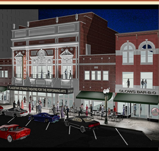 A rendering of the new Flagstar Strand Theatre in downtown Pontiac.