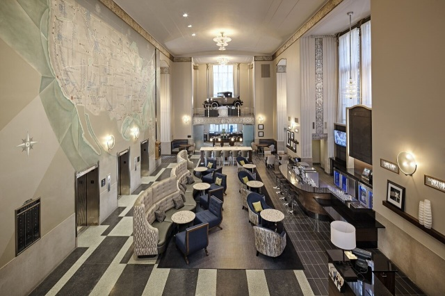 The former home of the AAA-Chicago Motor Club in downtown Chicago has been converted to a new hotel.