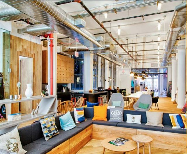 An example, in New York City, of co-working office space. (Image provided by The Instant Group.)