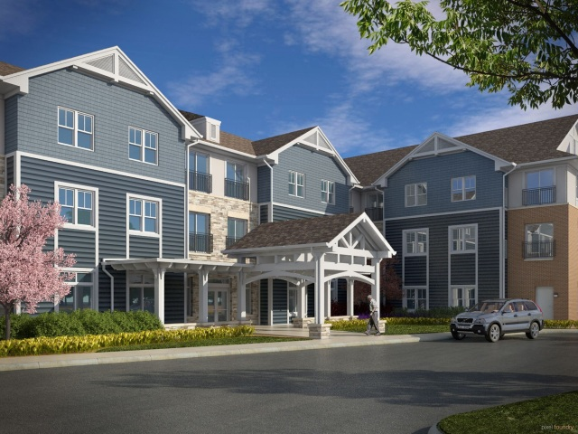 Joseph J. Duffy Co. of Chicago is building Azpira Place, a supportive living facility for seniors in Lake Zurich, Illinois.