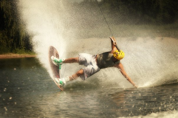 Trent Wieringa practicing his favorite sport.