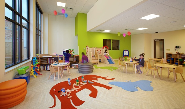 The playroom at Milwaukee's Sojourner Family Peace Center.