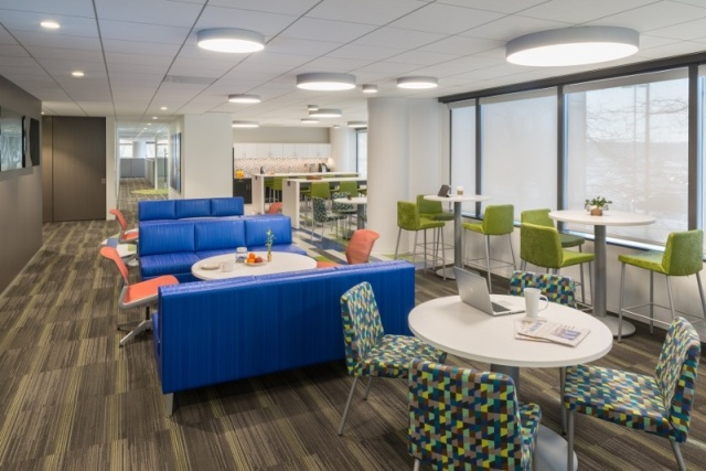 The employee lounge at Alliant Credit Union.